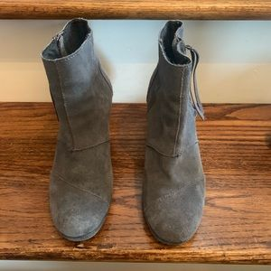 Toms wedge gray booties